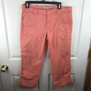 Anthropologie Hei Hei Cropped Capri Pants Peach 10